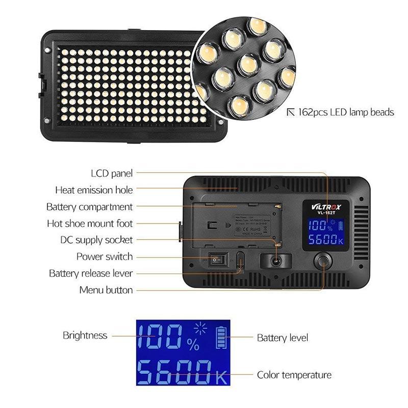 Viltrox VL162T LED light