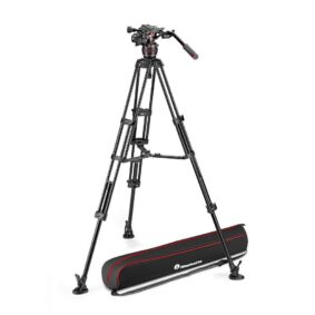 Manfrotto Nitrotech 608 and alu twin leg ms