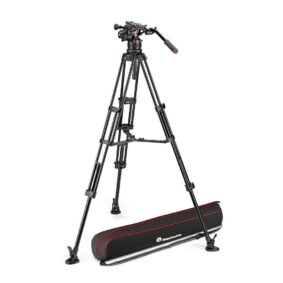 Manfrotto Nitrotech 612 and alu twin leg ms
