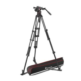 Manfrotto Nitrotech 612 and alu twin leg tripod gs