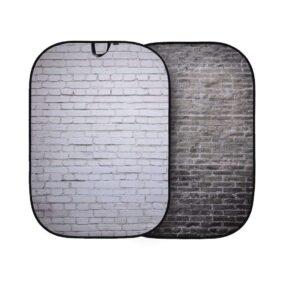 Lastolite Urban Collapsible Background 1.5x2.1m Painted White/Industrl Grey Brick